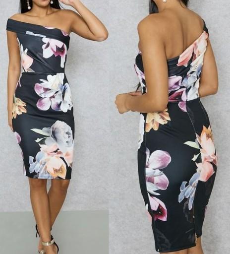 MISS SELFRIDGE sukienka ołówkowa kwiaty wesele L