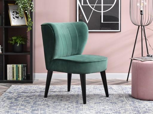 Komfortowy Fotel Welurowy Do Salonu Armi Zielony
