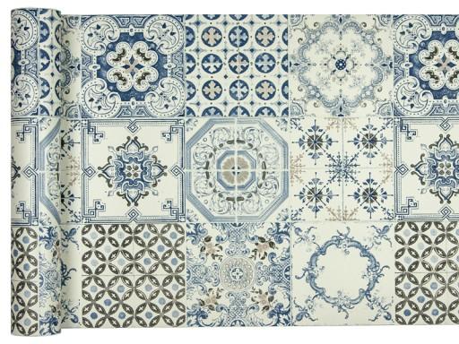 Tapety Kuchnia łazienka Zmywalne Niebieska Mozaika