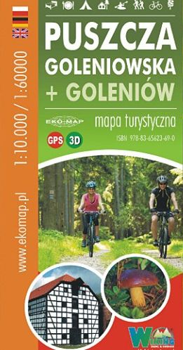 MAPA TURYSTYCZNA PUSZCZA GOLENIOWSKA 1:60000 GPS