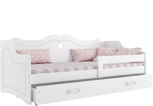 łóżko dziecięce LILI 160x80 biel Julia + materac