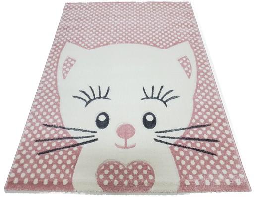 Dywan AVANOS KIDS 3D 80x150 kotek kitty różowy
