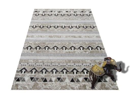 Dywan Miękki ILUZJA 80x150 Szary Beż Dywany