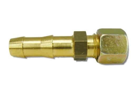 Łącznik przejście rurki fi8 na wąż gazowy 9 mm GOK