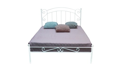 łóżko Metalowe Zofia 120x200 Kute Białe Czarne