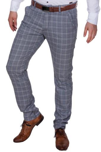 Spodnie wizytowe w kratę 2000 rozm.33 fashionmen2 8541939325 Odzież Męska Spodnie LB BFXTLB-6