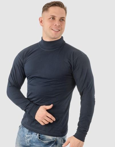 Elegancki Sweter Golf Męski Golfy WXM r L granatow 7537755520 Odzież Męska Swetry BA EPIMBA-8