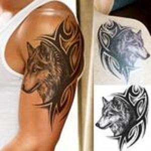 Tatuaż Tattoo Tymczasowy Wilk Tribal