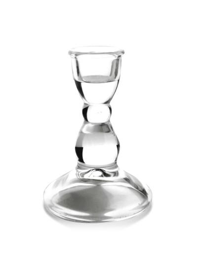 Świecznik szklany klasyczny na Święta 6,5x9cm 9651