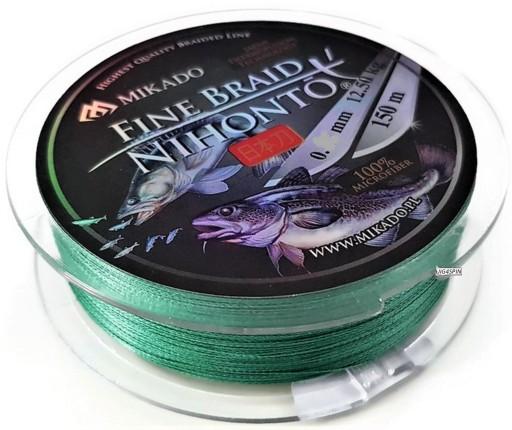 Plecionka Nihonto Fine Braid green 150m / 0,16mm