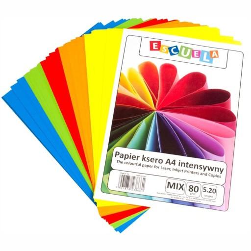 Papier Ksero A4 80g Escuela 100 Mix Intensywny