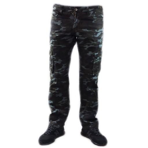 SPODNIE MĘSKIE BOJÓWKI MORO ROBOCZE KIESZENIE 9056656954 Odzież Męska Spodnie NT RWORNT-7
