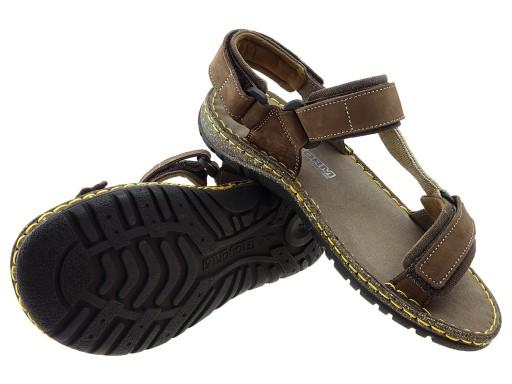NIK GN buty sandały 06-0094-01-502 brąz, skÓra 41 8211490412 Obuwie Męskie Męskie HI VHGFHI-2