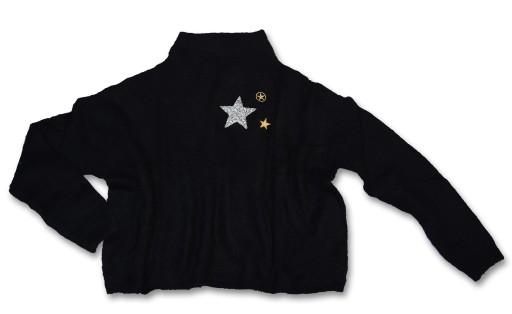 NOWY TERRANOVA sweter oversize czarny M