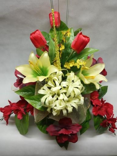 Kwiaty na grób KOMPOZYCJA sztuczna STROIK różne