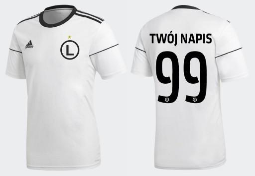 ADIDAS Legia Warszawa Koszulka + Nadruk w 24H M