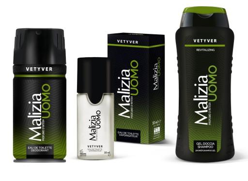 MALIZIA Uomo Vetyver zestaw kosmetyków dla mężczyz