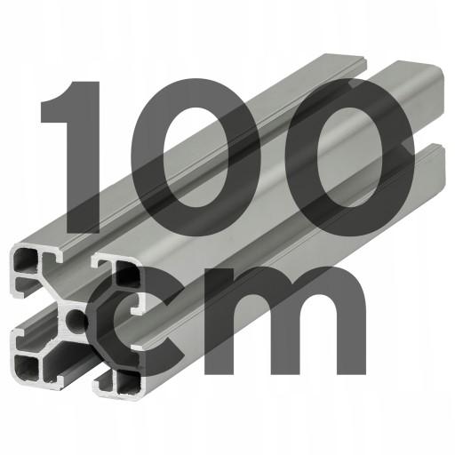 Aluminiowy Profil Konstrukcyjny 40x40 T8 - 100cm