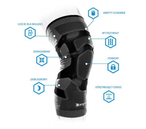 Stabilizator na kolano Compex Trizone Knee M Lewy