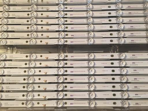 Listwa LED LBM395P1001 10xLED3030 WKLĘSŁE SOCZEWKI