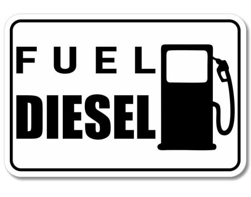 STICKER MARK FUEL fuel DIESEL ropa ON
