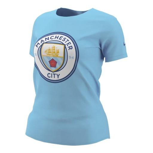 Błękitna koszulka Damska Manchester City Nike S