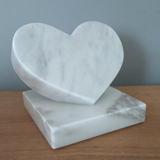 Serce Z Marmuru Figurka Dekoracja Kamien Carrara 8535098431 Allegro Pl