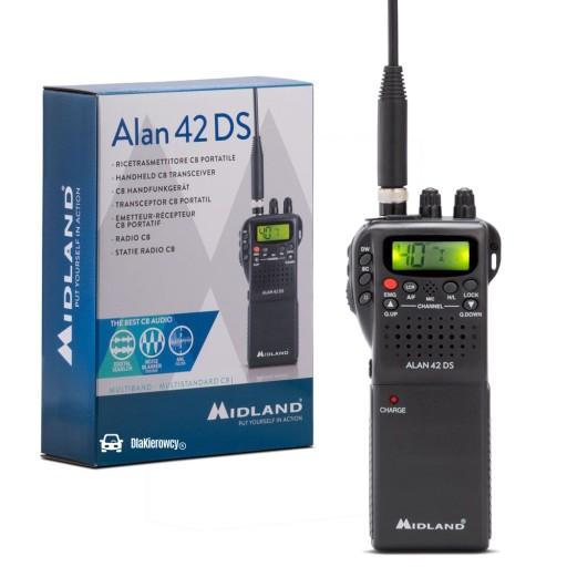 CB RADIO RĘCZNE MIDLAND ALAN 42 RĘCZNIAK 12V X7H