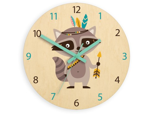 Zegar ścienny do pokoju dziecka SZOP 30cm CICHY