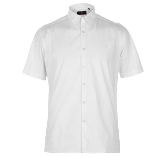 PIERRE CARDIN koszula na krótki rękaw BIAŁA - XXL