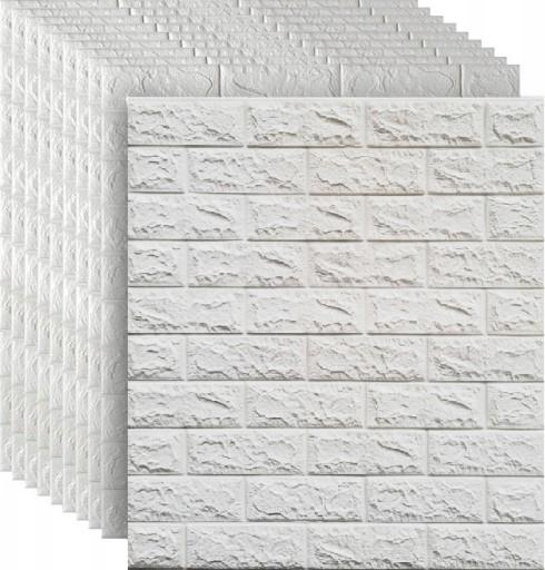 Cegla 3d Pianka Biala Samoprzylepne Panele 10 Szt 9604353415 Allegro Pl