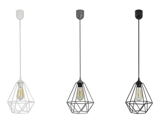 lampy z drutu szare allegro