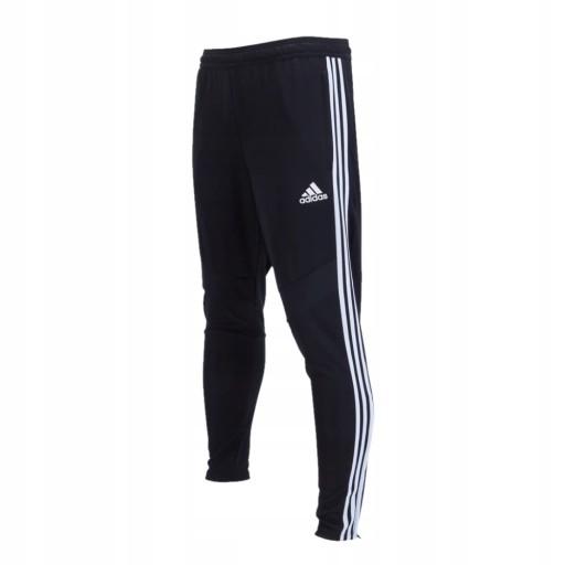 ADIDAS spodnie dresy rurki zwężane czarne S