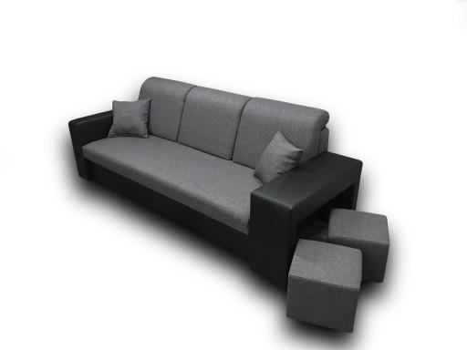 Bella Elegancka Sofa Rozkładana Z Pufami W Cenie