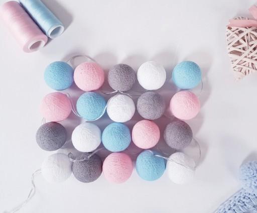 Oryginalne Cotton Balls 20 Kul Led Blekitno Rozowe 9196625159 Allegro Pl