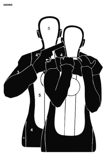 Tarcze strzeleckie Zakładnik - Hostage 100szt