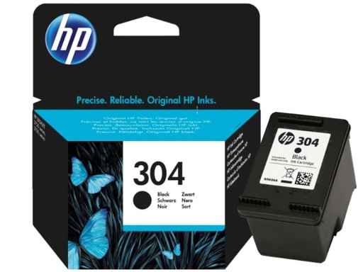 ORYGINALNY TUSZ HP 304 Black N9K06AE CZARNY NOWY