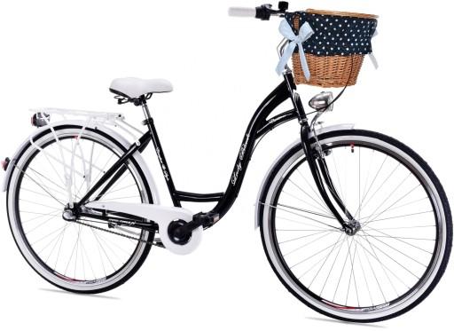 Damski Rower Miejski 28 Lady Black 3bie Holenderka 7059155288 Allegro Pl