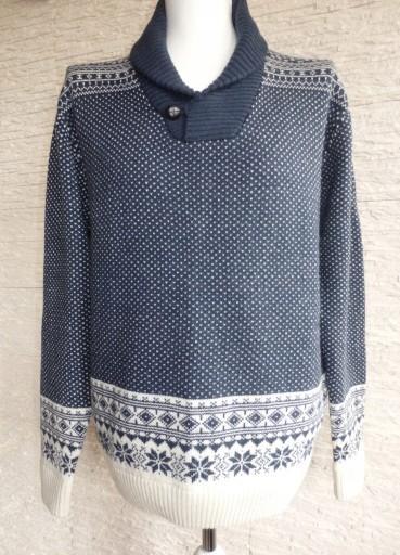JEANS&CASUAL MĘSKI SWETER WEŁNA NOWY R. L 9019489094 Odzież Męska Swetry UM GWRJUM-1