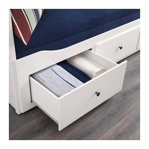 Ikea Hemnes łóżko Rozkładane 2 Materace Białe Sofa 6737235686