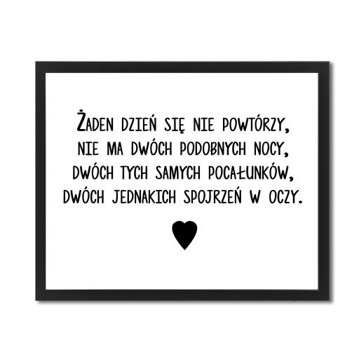 Plakat Z Napisami W Ramce Cytat Szymborska Wiersz