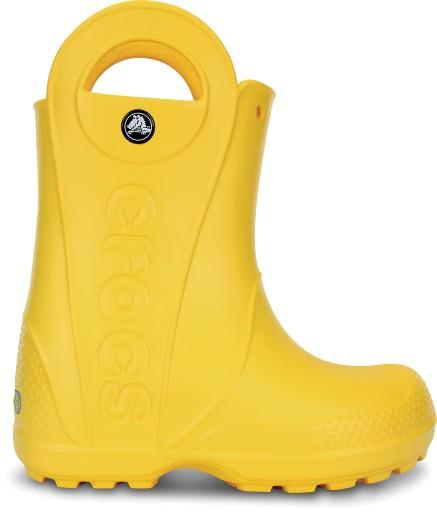 Kalosze Crocs Handle it rain boot żółte 33-34 (J2)