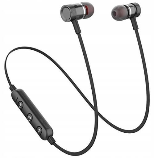 Słuchawki Sportowe Bezprzewodowe Bluetooth Douszne z