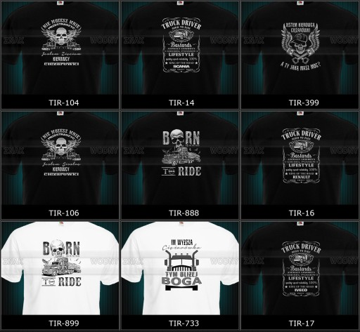 koszulka tir volvo scania daf man mercedes renault 8560808103 Odzież Męska T-shirty RY YYDFRY-2