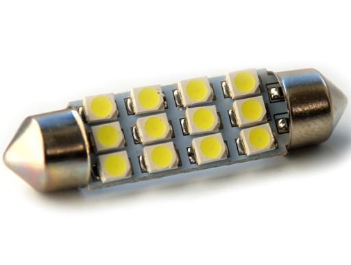 24V Rurka 41mm 12 led SMD C3W C5W C10W C15W 5127578747