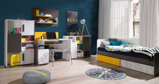 Nowoczesne łóżko Dziecięce Młodzieżowe 90x200cm