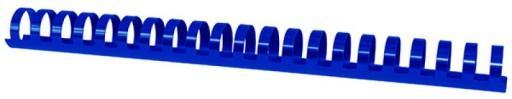 Grzbiety do bindowania A4, 25mm 50szt niebieskie
