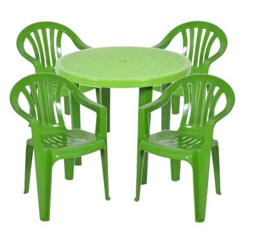 Plastikowy Mocny Zestaw 4 1 Krzesla Stol Ogrodowy 7225699136 Allegro Pl