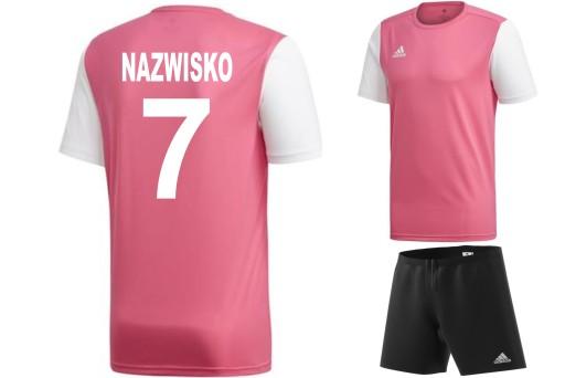 Adidas komplet strój piłkarski z NADRUKIEM M