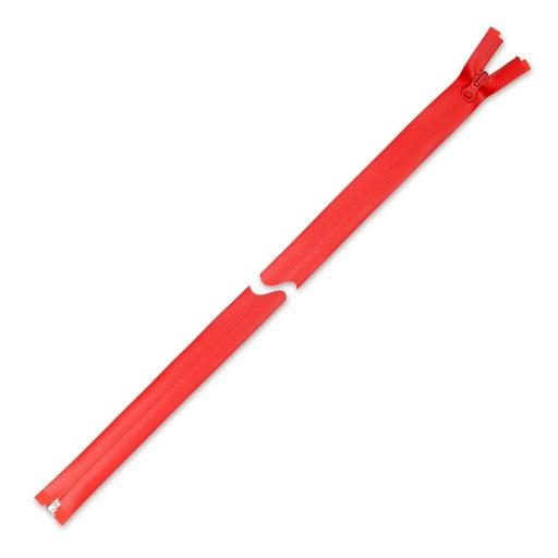 Zamek błyskawiczny czerwony wodoszczelny 75 cm